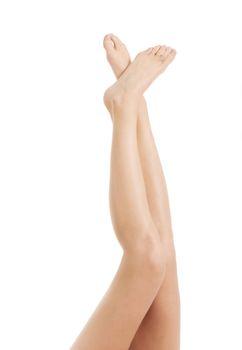 Beautiful smooth female legs.