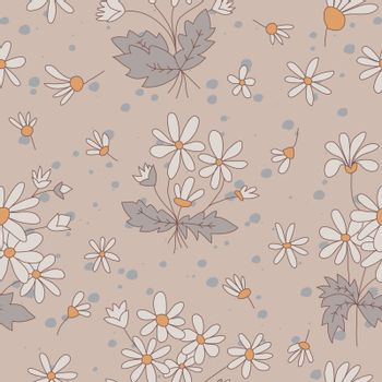 Seamless textures with flowers