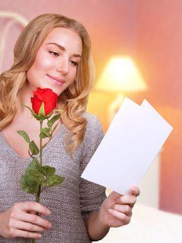 Reading love letter