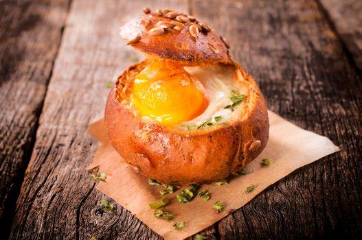 Bun and egg