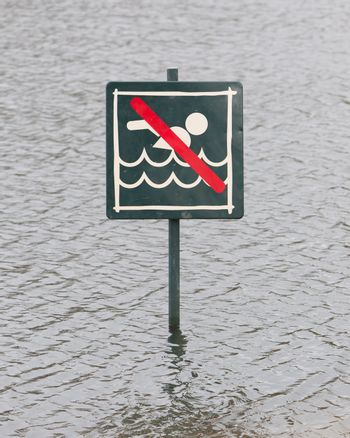 Caution No Swimming allowed