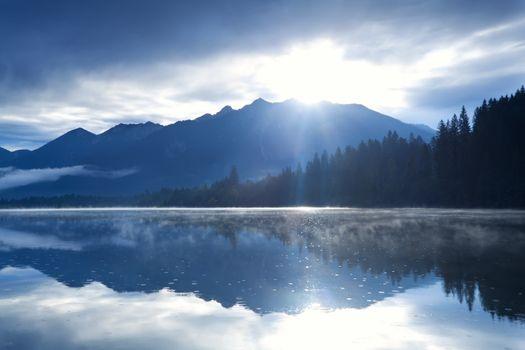 morning sunshine over Karwendel mountain range