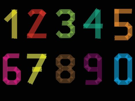 Number set from 1 to 9 including 0