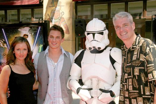 Catherine Taber with Matt Lanter and Tom Kane /ImageCollect