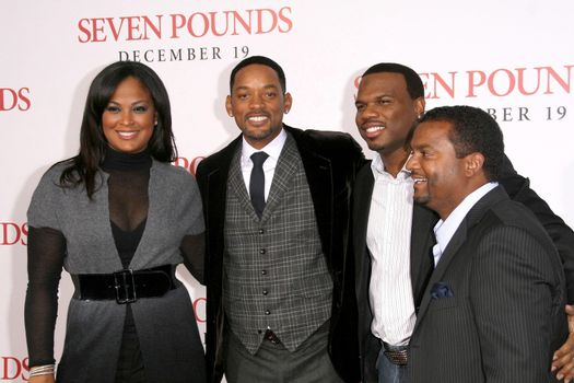 Laila Ali and Will Smith with Curtis Conway and Alfonso Ribeiro  /ImageCollect