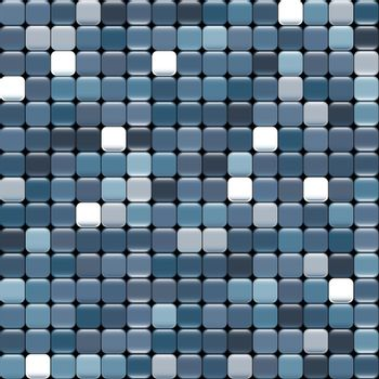 seamless blue texture of squares with glare