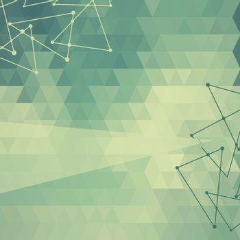 Abstract background of triangles triangular