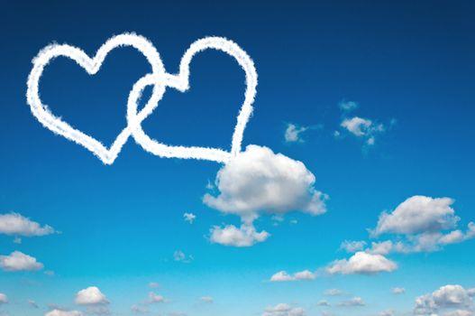 Heart clouds