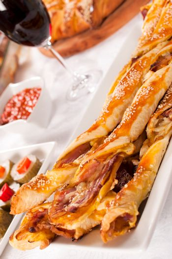 Bacon and pastry