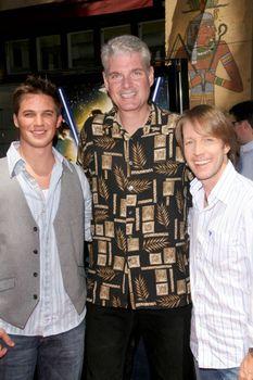 Matt Lanter with Tom Kane and James Arnold Taylor /ImageCollect