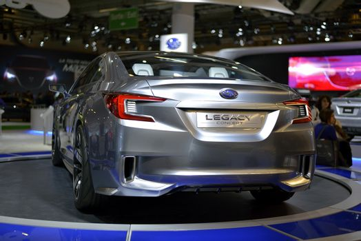 New Subaru Legacy Concept car shown at The Montreal International Auto Show in January 25, 2014. Palais des Congres de Montreal