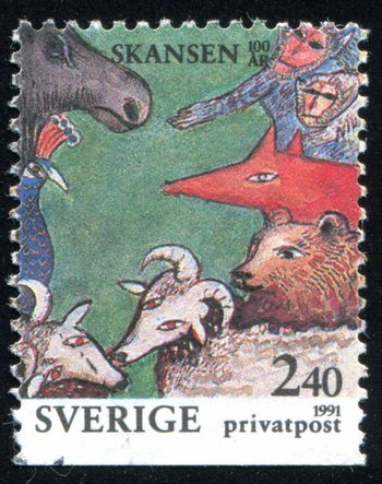 SWEDEN - CIRCA 1991: stamp printed by Sweden, shows Animals, circa 1991