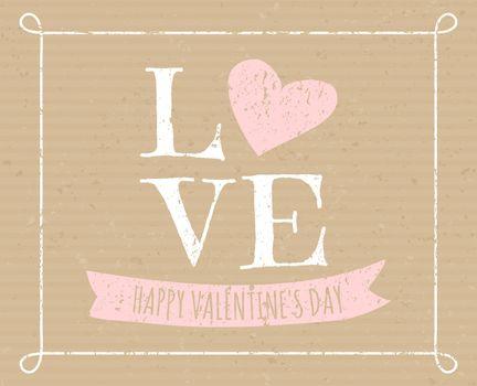 Cardboard Valentine Design