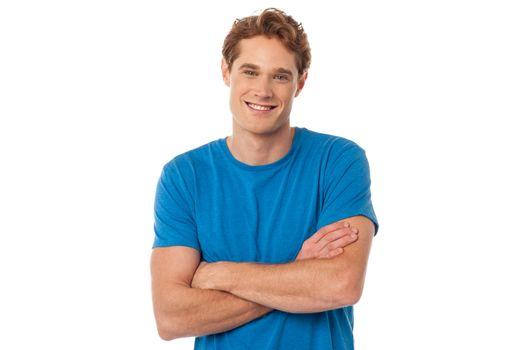Portrait of handsome caucasian guy
