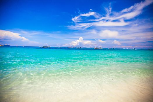 Turquoise water and white sand
