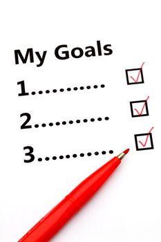 Tickbox of my goal