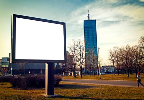 Blank city billboard