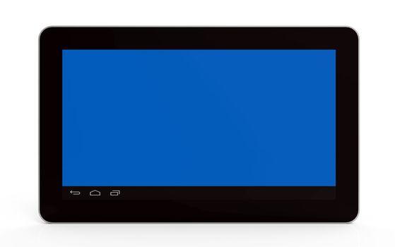 Tablet computer on white, 3d render, illustration
