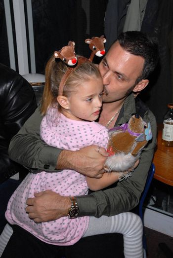 Spiros Poros and daughter at the launch of Kylie Bax and Spiros Poros' Moro Moro Kids Boot Collection at Ron Robinson Lifesize, Fred Segal, Santa Monica, CA. 12-11-10/ImageCollect