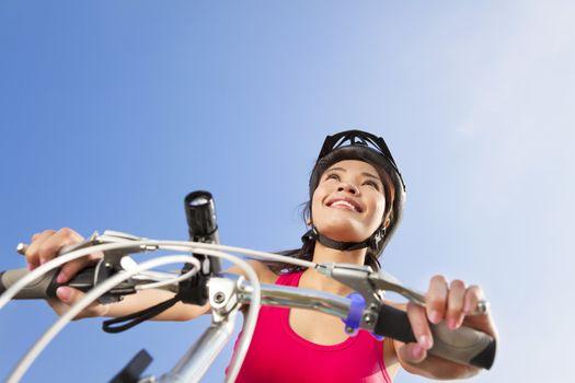 Mountain biking - portrait of young mountain biker