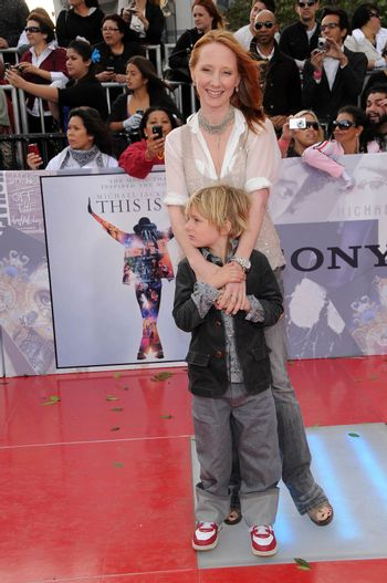 Anne Heche and son Homer at the Los Angeles Premiere of 'This Is It'. Nokia Theatre, Los Angeles, CA. 10-27-09/ImageCollect