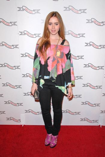 Lily Collins at the Odd Molly Flagship Store Opening, Odd Molly, Los Angeles, CA. 03-19-10/ImageCollect