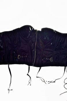 Gothic leather corset
