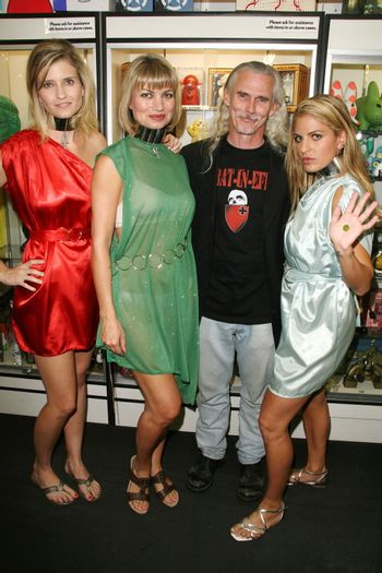 Ashkey King, Rena Riffel, Camden Toy and Bridgetta Tomarchio at the Girls and Corpses Magazine Summer Alien Autopsy Issue Party, Meltdown Comics, Hollywood, CA. 08-20-10/ImageCollect