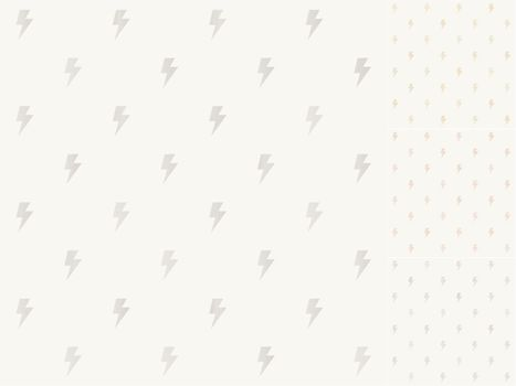 seamless thunder pattern with silver, gold, bronze gradient