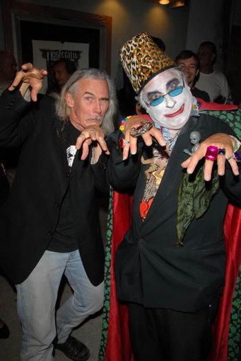 """Camden Toy and Count Smokula at a midnight movie screening of Rena Riffel's """"Trasharella"""" as part of the  Vampire-Con Film Festival, New Beverly Cinema, Los Angeles, CA. 06-25-10/ImageCollect"""