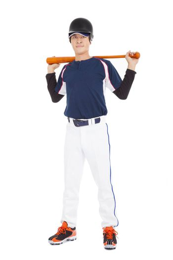 Portrait of a asian Young adult baseball player