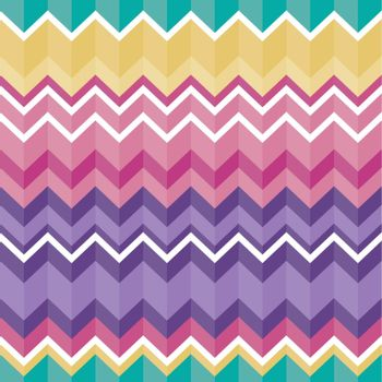 Vector seamless aztec ornament, ethnic pattern in pink, purple, yellow, turquoise