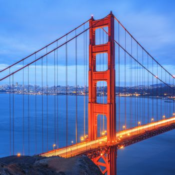 Golden Gate Bridge, San Francisco at night