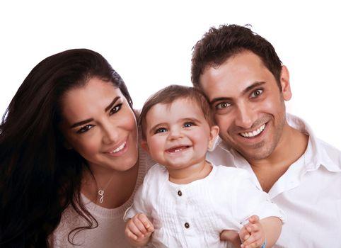 Cheerful family portrait