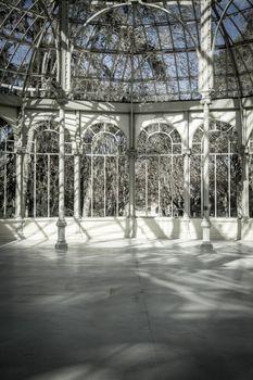 Crystal Palace (Palacio de Cristal) in Parque del Retiro in Madr