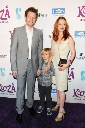 James Tupper with Anne Heche and her son Homer at Cirque Du Soleil's 'Kooza' Opening Night Gala. Santa Monica Pier, Santa Monica, CA. 10-16-09/ImageCollect