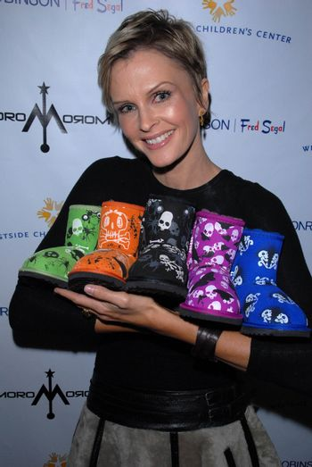 Kylie Bax and her Moro Moro sheepskin boots for kids at the launch of Kylie Bax and Spiros Poros' Moro Moro Kids Boot Collection at Ron Robinson Lifesize, Fred Segal, Santa Monica, CA. 12-11-10/ImageCollect
