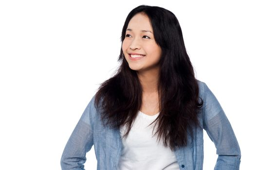 Charming chinese girl, casual portrait