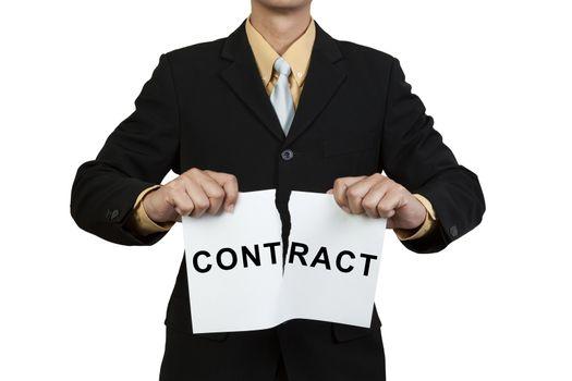 Businessman break contract