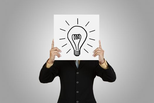 Businessman with lightbulb