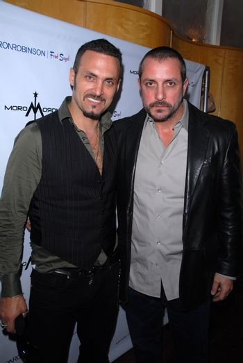Spiros Poros and Theo Pagones at the launch of Kylie Bax and Spiros Poros' Moro Moro Kids Boot Collection at Ron Robinson Lifesize, Fred Segal, Santa Monica, CA. 12-11-10/ImageCollect
