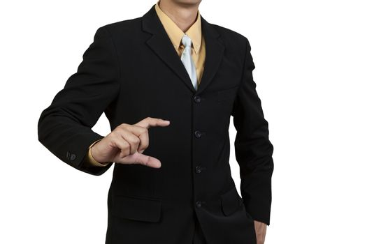 Business show his hand