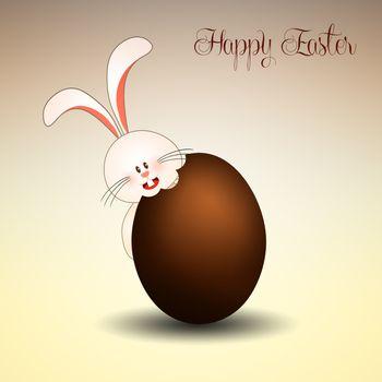 Bunny with chocolate egg