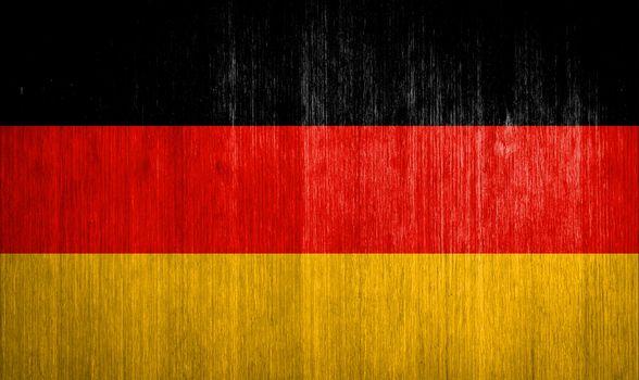 Germany Flag on wood background