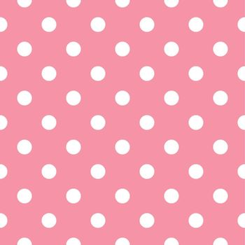 Polka dot fabric. Retro vector background or pattern