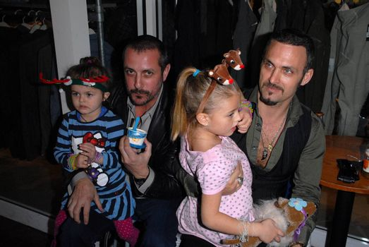 Theo Pagones and Spiros Poros at the launch of Kylie Bax and Spiros Poros' Moro Moro Kids Boot Collection at Ron Robinson Lifesize, Fred Segal, Santa Monica, CA. 12-11-10/ImageCollect