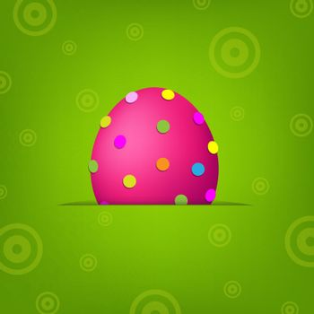 Easter Banner With Egg