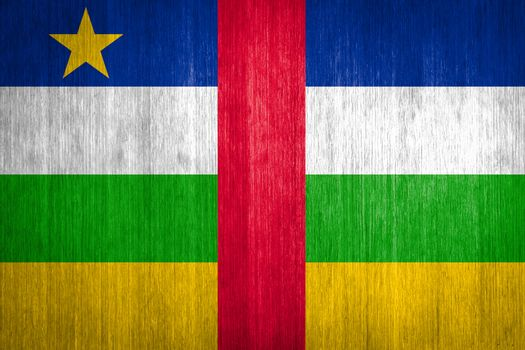 Central African Republic Flag on wood background