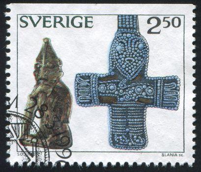 Bronze statue of pagan fertility god