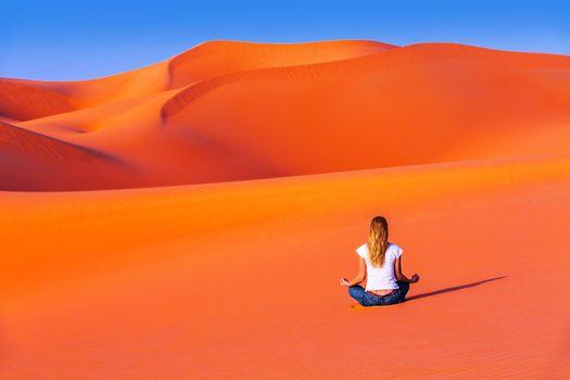 Meditation in desert